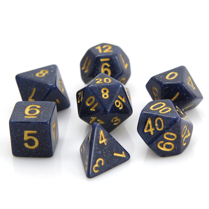 Die Hard Dice 7pc RPG Dice Set Blue Galaxy - Pastime Sports & Games