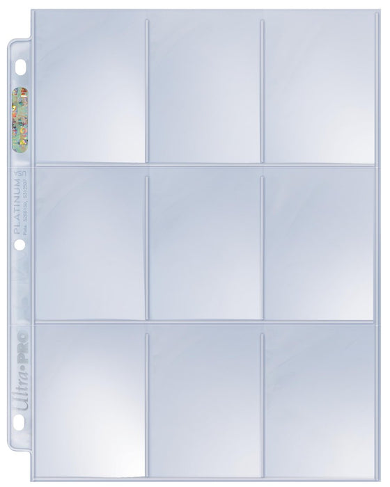 Ultra Pro Platinum Series 9-Pocket Pages