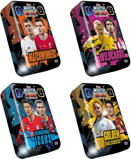 2020/21 Topps Match Attax Soccer Champions League UEFA Collectors Tin - Pastime Sports & Games