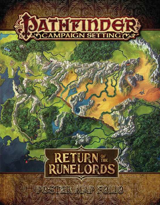 Pathfinder Campaign Setting Return of the Runelords Poster Map Folio - Pastime Sports & Games
