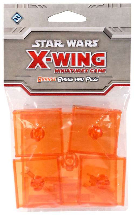 Star Wars X-Wing Miniatures Game Orange Base & Pegs Pack - Pastime Sports & Games