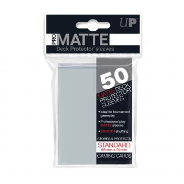 Ultra Pro Matte Deck Protector Sleeves 50ct Clear - Pastime Sports & Games