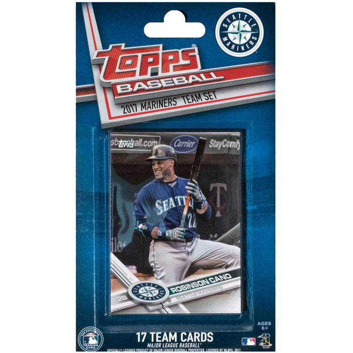 2017 Baseball Topps Seattle Mariners Team Set - Pastime Sports & Games
