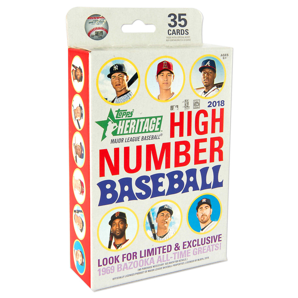 2018 Topps Heritage High Number Baseball Hanger Box - Pastime Sports & Games