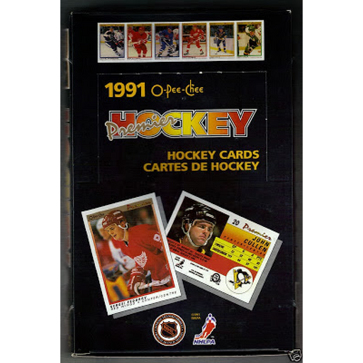 1990/91 OPC O-Pee-Chee Premier Hockey Wax Box - Pastime Sports & Games