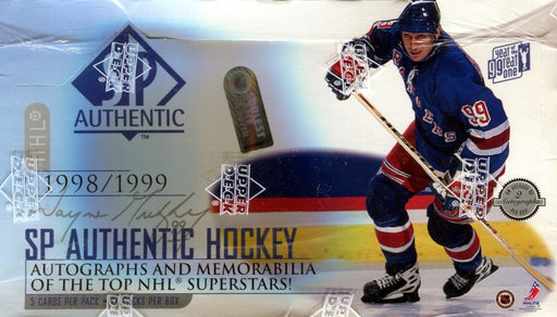 1998/99 Upper Deck SP Authentic Hockey Hobby Box - Pastime Sports & Games
