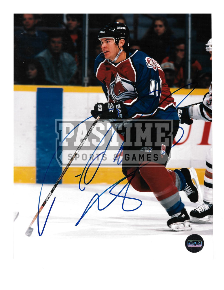 Adam Deadmarsh Autographed 8X10 Colorado Avalanche Home Jersery (Skating) - Pastime Sports & Games