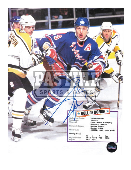 Adam Graves Autographed 8X10 Magazine Page New York Ragers Home Jersey (Skating) - Pastime Sports & Games