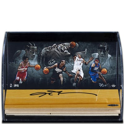 Allen Inverson Nba Autographed Basketball Game Used Floor - Pastime Sports & Games