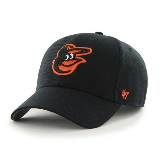 Baltimore Orioles Baseball MVP Adjustable Hat (Black 47 Brand) - Pastime Sports & Games