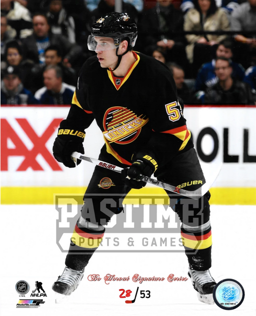 Bo Horvat 8X10 Vancouver Canucks Home Jersey (Home Retro Jersey # Out Of 53) - Pastime Sports & Games
