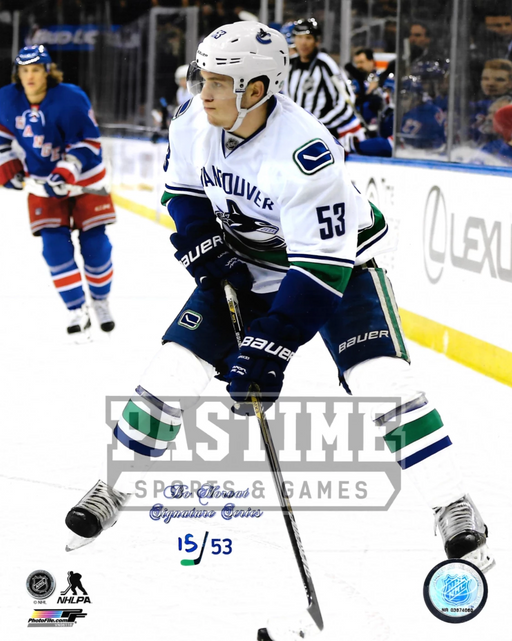 Bo Horvat 8X10 Vancouver Canucks Away Jersey (Skating # Out Of 53) - Pastime Sports & Games