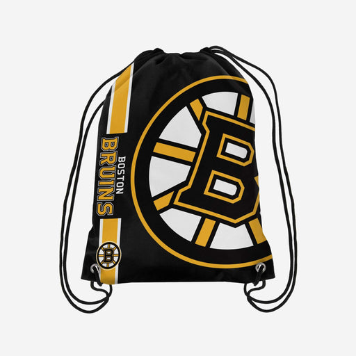 Boston Bruins Drawstring Bag Hockey (Black FOCO) - Pastime Sports & Games