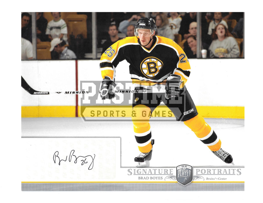 Brad Boyes Autographed 8X10 Boston Bruins Home Jersey (Signature Portaits) - Pastime Sports & Games