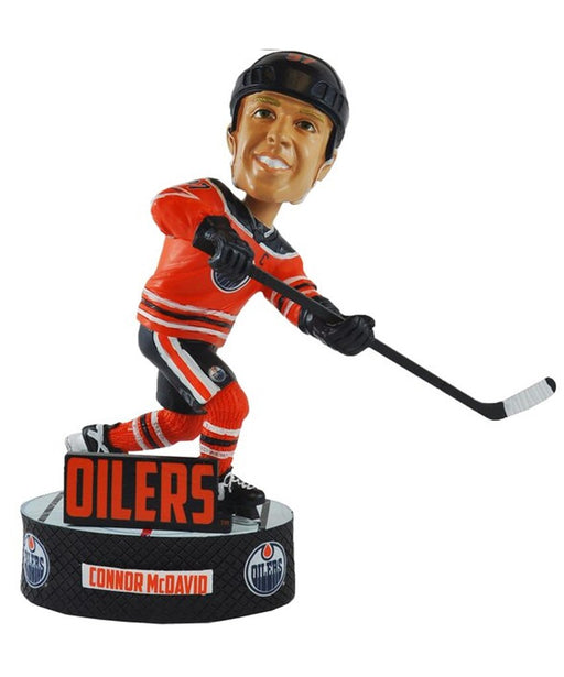 Connor McDavid Edmonton Oilers Hockey Bobblehead (FOCO) - Pastime Sports & Games