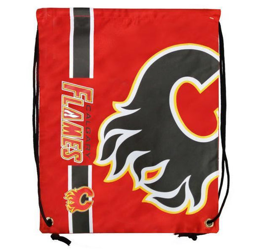 Calgary Flames Drawstring Bag Hockey (Red FOCO) - Pastime Sports & Games