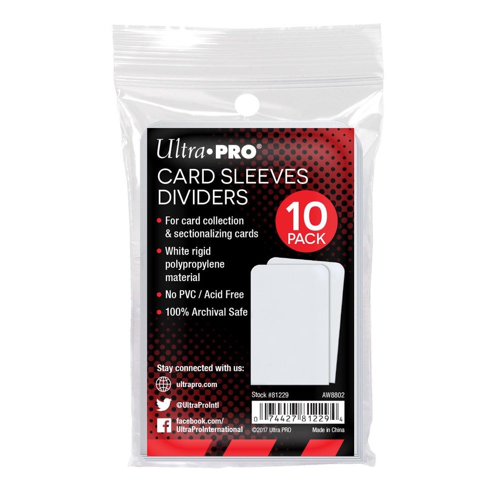 Ultra Pro Card Sleeve Dividers - Pastime Sports & Games