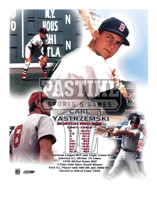 Carl Yastrzemski 8X10 Boston Red Sox (Photo Montage) - Pastime Sports & Games