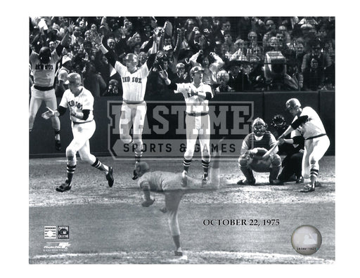 Carleton Fisk 8X10 Boston Red Socks (Oct 22, 1975) - Pastime Sports & Games