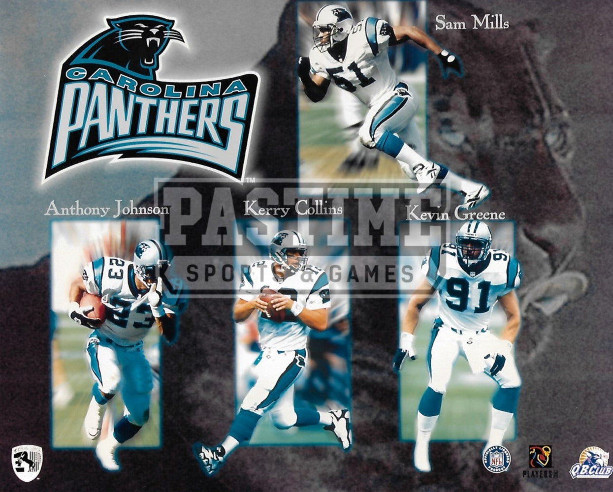 Carolina Panthers 8X10 Player Montage (Mills, Greene, Johmson, Collins) - Pastime Sports & Games