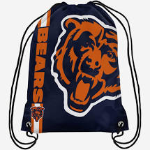 Chicago Bears Football Drawstring Bag (Blue FOCO) - Pastime Sports & Games