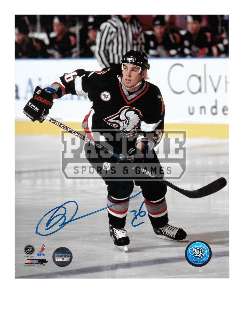 Chris Drury Autographed 8X10 Buffalo Sabres Home Jersey (Skating) - Pastime Sports & Games