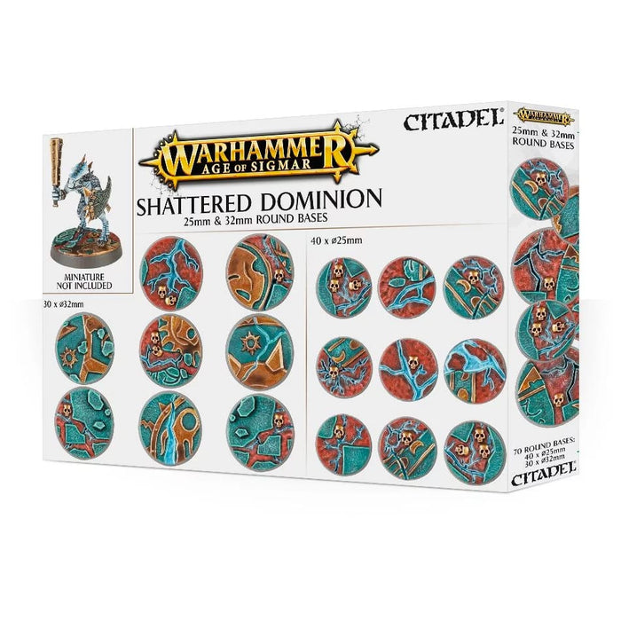 Warhammer Age Of Sigmar Citadel Shattered Dominion Bases - Pastime Sports & Games