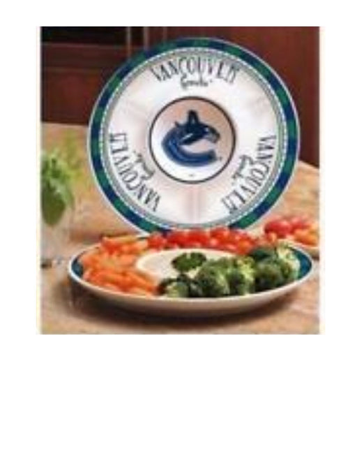 Vancouver Canucks Chip And Dip Platter - Pastime Sports & Games