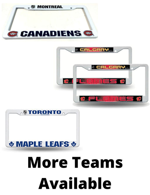 NHL Plastic License Plate Covers - Pastime Sports & Games