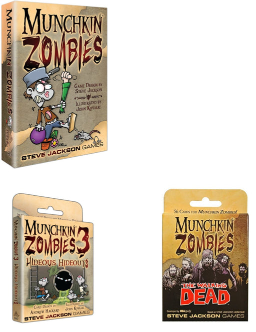 Munchkin Zombies Main Game & Expansions (Sold Separately) - Pastime Sports & Games