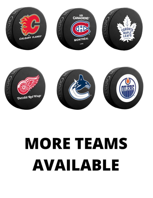 Full Logo Souvenir Pucks - Pastime Sports & Games