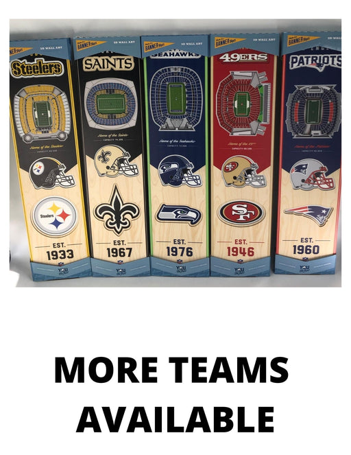 NFL Stadium Wood Banners - Pastime Sports & Games