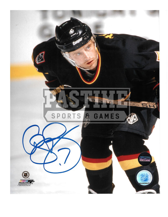 Cliff Ronning Autographed 8X10 Vancouver Canucks 94 Home Jersey (Bent Over) - Pastime Sports & Games