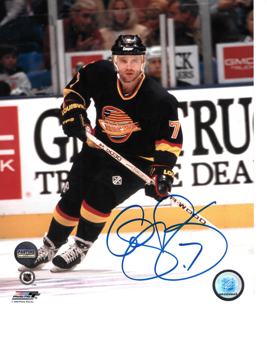 Cliff Ronning Autographed 8X10 Vancouver Canucks 94 Home Jersey (Skating) - Pastime Sports & Games