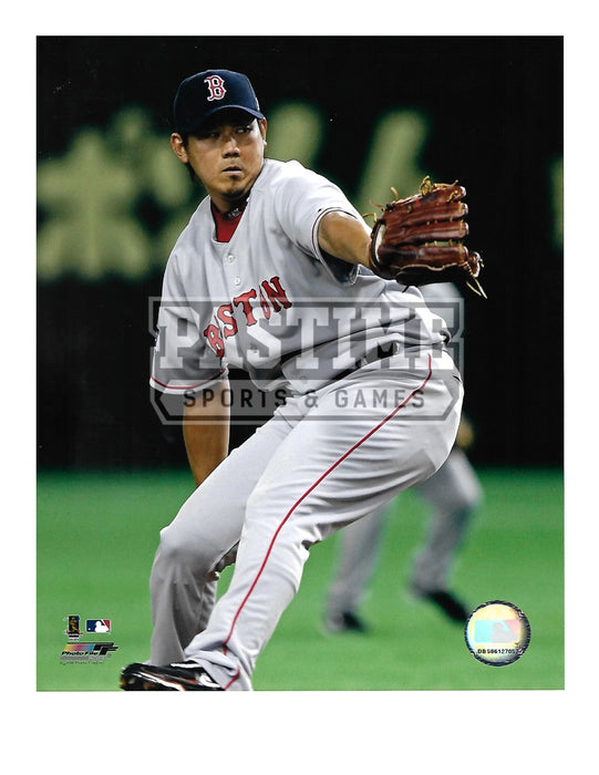 Daisuke Matsuzaka 8X10 Boston Red Socks (Pitching Ball Pose 1) - Pastime Sports & Games