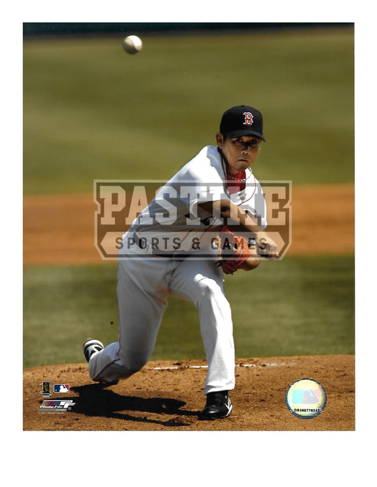 Daisuke Matsuzaka 8X10 Boston Red Socks (Pitching Ball Pose 2) - Pastime Sports & Games