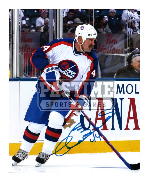 Dave Babych Autographed 8X10 Winnipeg Jets Away Jersey (Skating) - Pastime Sports & Games