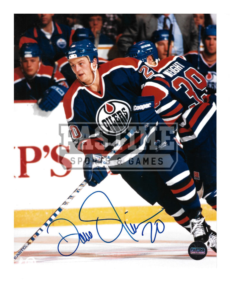 Dave Oliver Autographed 8X10 Edmonton Oilers Home Jersey (Skating) - Pastime Sports & Games
