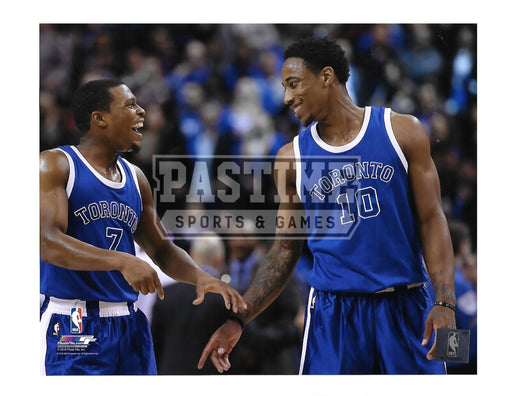 Demar Derozan 8X10 Toronto Raptors (Smiling With Team Mate) - Pastime Sports & Games