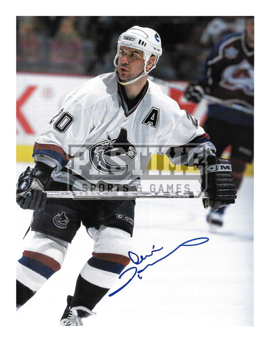Dennis Pedersen Autographed 8X10 Magazine Page Vancouver Canucks Away Jersey (Skating) - Pastime Sports & Games
