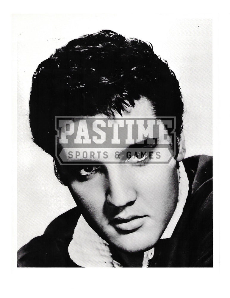 Elvis Presley 8X10 Black and White (Head Shot Pose 1) - Pastime Sports & Games