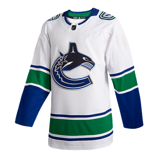 2019/20 Vancouver Canucks Adidas White Orca Away Jersey - Pastime Sports & Games