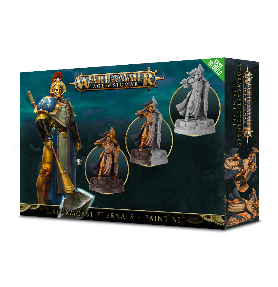 Warhammer Age of Sigmar Stormcast Eternals + Paint Set (60-10-60) - Pastime Sports & Games