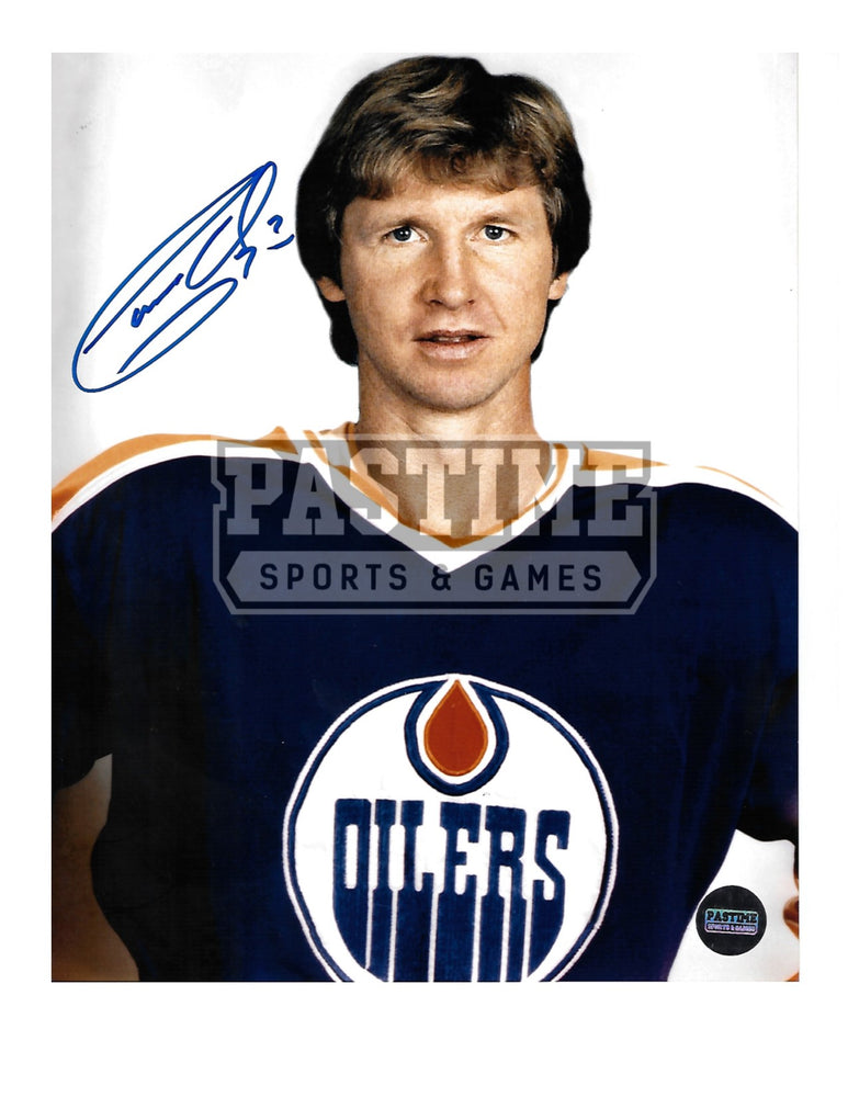 Garry Unger Autographed 8X10 Edmonton Oilers Home Jersey (Pose) - Pastime Sports & Games