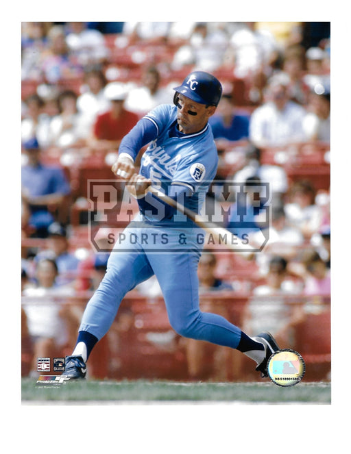 George Brett 8X10 Kansas City Royals (Swinging Bat) - Pastime Sports & Games