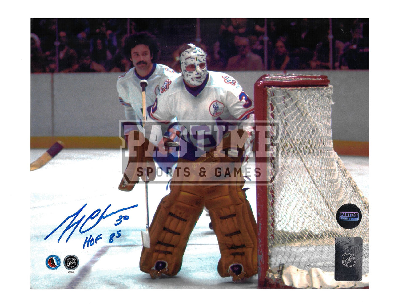 Gerry Cheevers Autographed 8X10 Team USA Away Jersey (In Position) - Pastime Sports & Games