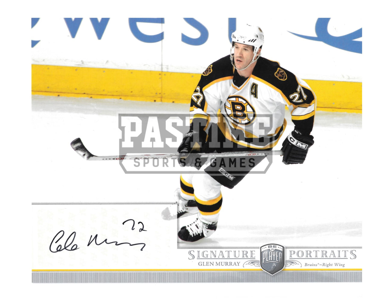 Glen Murray Autographed 8X10 Boston Bruins Away Jersey (Signature Portraits) - Pastime Sports & Games