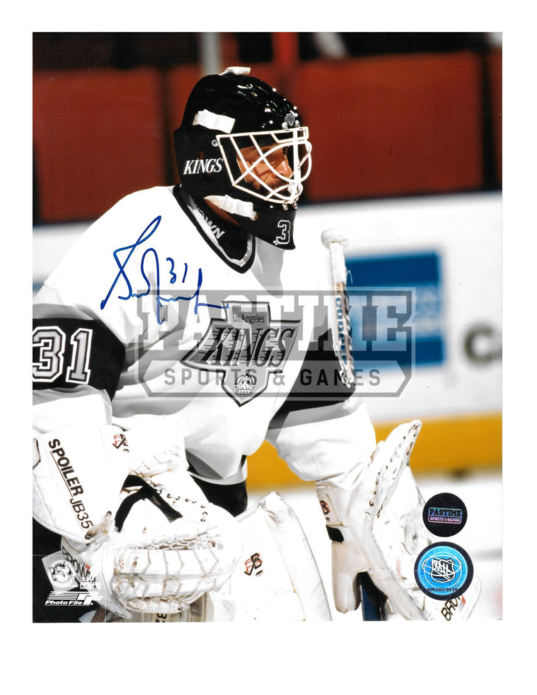 Grant Furh Autographed 8X10 L.A Kings Away Jersey (Close Up) - Pastime Sports & Games