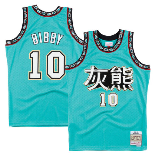 1998/99 Vancouver Grizzlies Mike Bibby Chinese New Year Basketball Jersey (Teal Mitchell & Ness) - Pastime Sports & Games