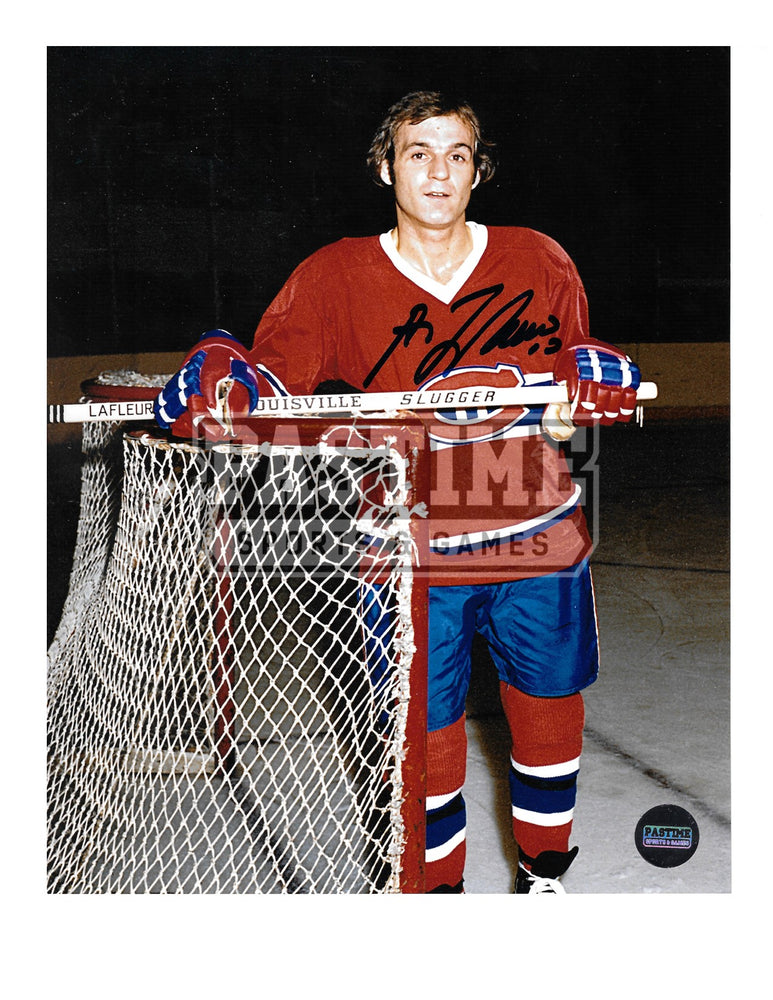 Guy Lafleur Autographed 8X10 Montreal Canadians Home Jersey (Beside Net) - Pastime Sports & Games